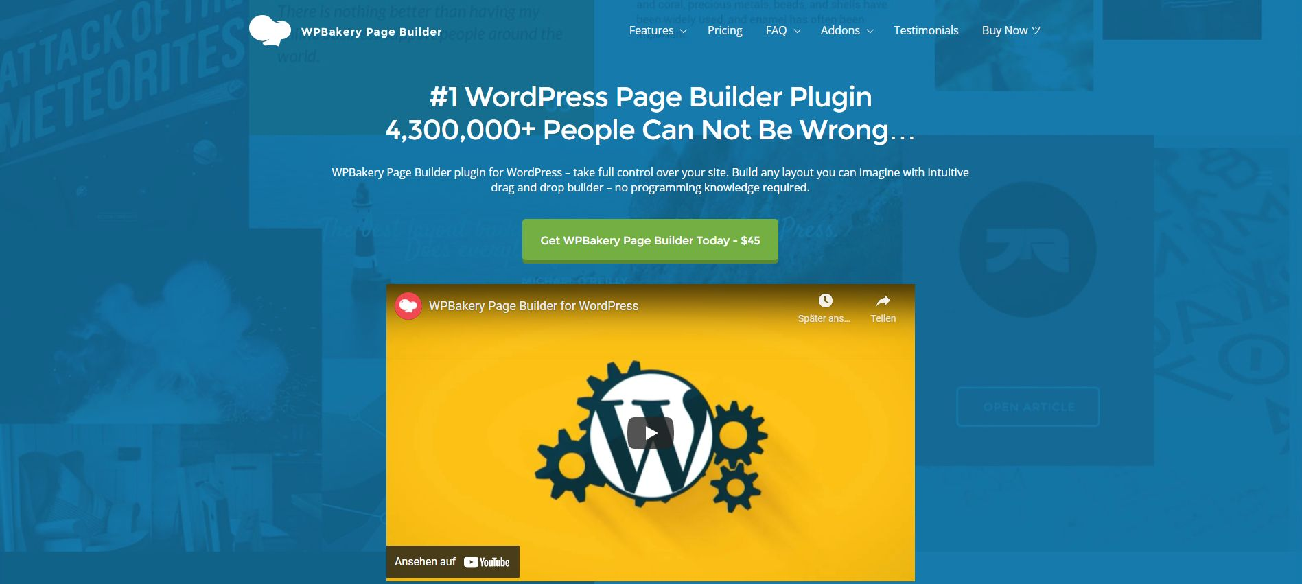 Wordpress Plugin Komma99 Wpbakery