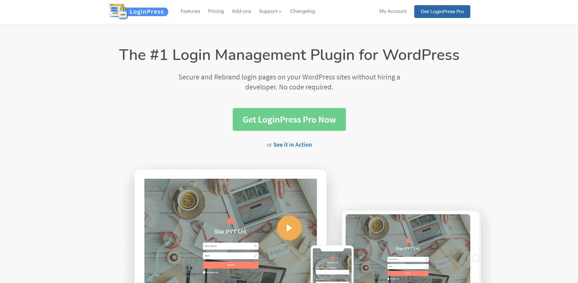 Wordpress Plugin Komma99 LoginPress